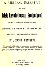 Danieffe - Personal Narrative of the Irish Revolutionary Brotherhood